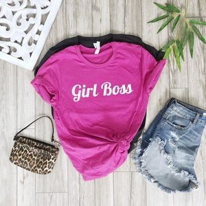 NEW Girl boss soft shirt top graphic women